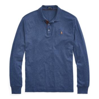 Рубашка-поло из мягкого хлопка с длинными рукавами, высокий рост Ralph Lauren