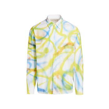 Scribble Spray Painted Shirt MARNI
