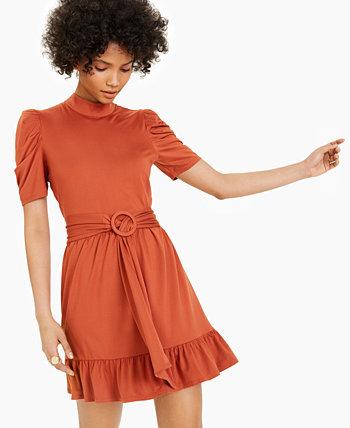 Мини-платье с поясом LEYDEN
