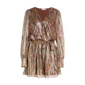 Мини-платье с металлизированным искусственным запахом Ramy Brook