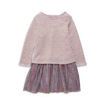 Маленькие девочки & amp; Толстовка из двух частей для девочек и свитшот и amp; Комплект платья Pippa & Julie