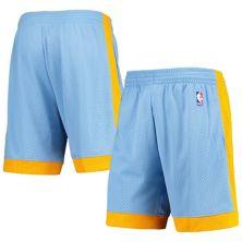 Men's Mitchell & Ness Blue Los Angeles Lakers Hardwood Classics 2001/02 Swingman Shorts Unbranded