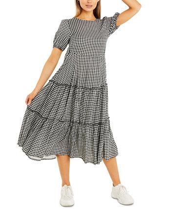 Миди-платье в мелкую клетку Quiz