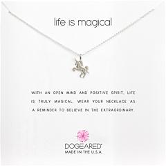 Жизнь - волшебное ожерелье-напоминание единорога Dogeared
