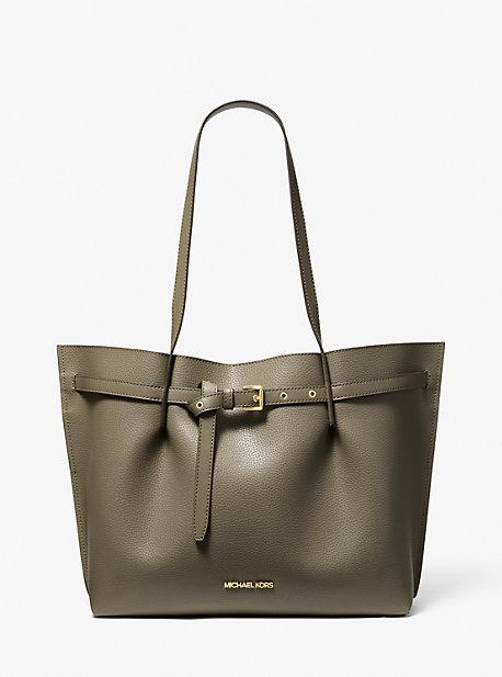 Большая сумка-тоут Emilia из шагреневой кожи Michael Kors