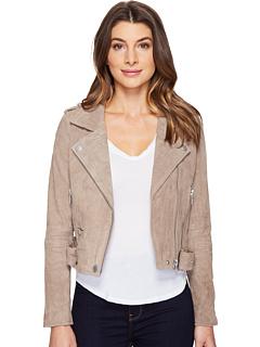 Замшевая мото куртка Blank NYC