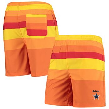Men's Orange Houston Astros Cooperstown Collection Mini Logo Swim Shorts Unbranded