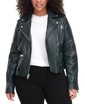 Мотоциклетная куртка из искусственной кожи Trendy больших размеров Levi's®