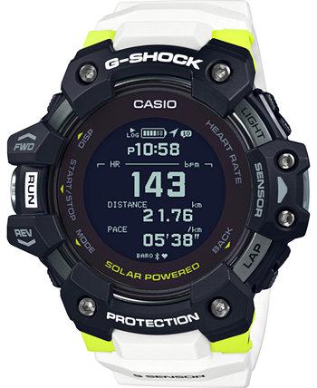 Мужские часы Solar Digital Connected Power Trainer с белым полимерным ремешком, 55 мм G-Shock
