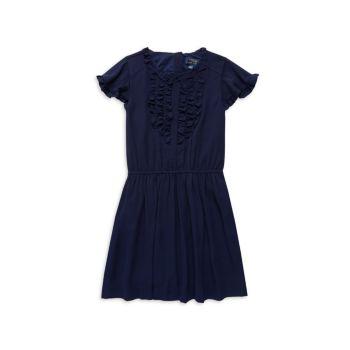 Расклешенное платье с рюшами для маленьких девочек Polo Ralph Lauren