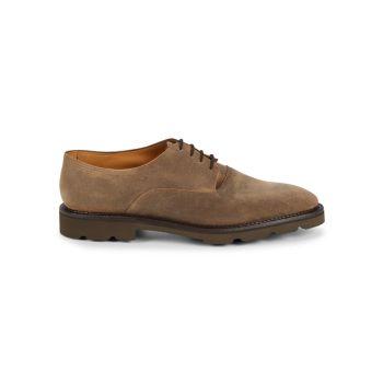 Вощеные замшевые туфли дерби Milton John Lobb