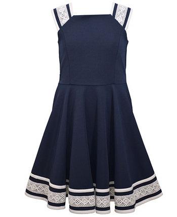 Текстурированное трикотажное платье с фигуристкой для маленьких девочек Bonnie Jean