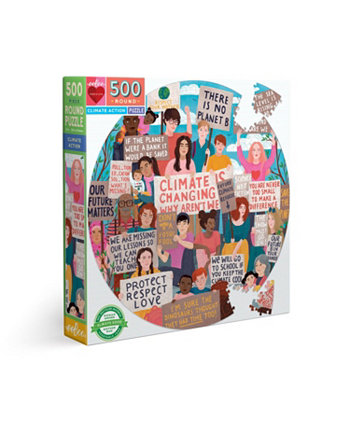 Круглый пазл из 500 элементов Climate Action EeBoo