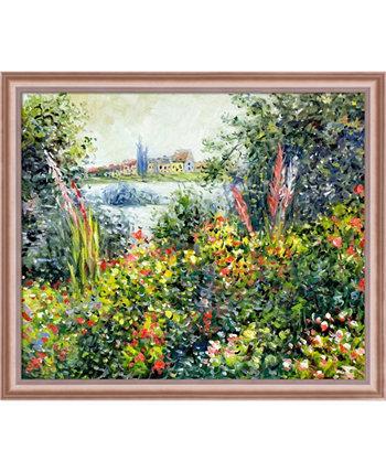"Art Flowers в Vetheuil с классическими настенными рисунками в рамах в оттенках розового золота, 27 ""x 23"" La Pastiche"
