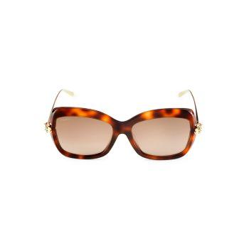 """Солнцезащитные очки """"кошачий глаз"""" 57 мм Cartier"""