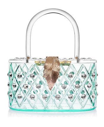 "Клатч Box Clutch ""Spearmint Ice"" 1950-го года с кристаллами Lucite в стиле ретро Milanblocks"