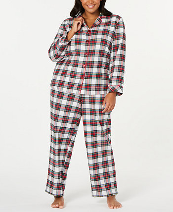 Подходящий семейный пижамный комплект Stewart Plaid больших размеров, созданный для Macy's Family Pajamas