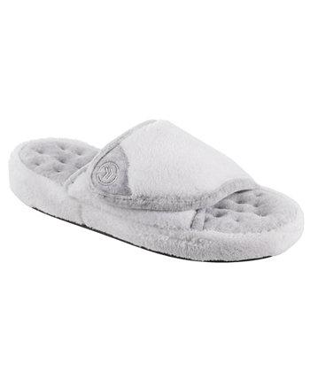 Isotoner Women's Microterry Pillowstep Slide Slipper, только в Интернете Isotoner Signature
