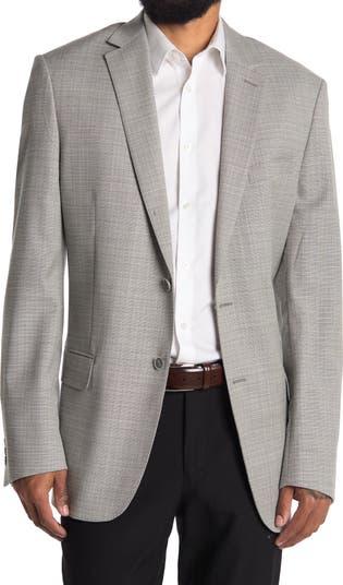 Светло-серая куртка New York с короткими лацканами и двумя пуговицами в шотландскую клетку Hart Schaffner Marx