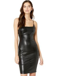 Тонкое платье миди с квадратным вырезом и ремешком из двух частей спагетти Bebe