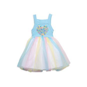 Платье-пачка в полоску для маленьких девочек Pippa & Julie