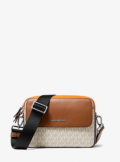 Кожаная сумка через плечо и логотип Hudson с цветными блоками Michael Kors