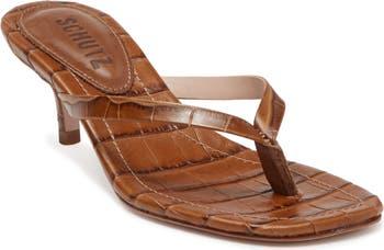 Сандалии на каблуке с тиснением под кожу крокодила Ivone Schutz