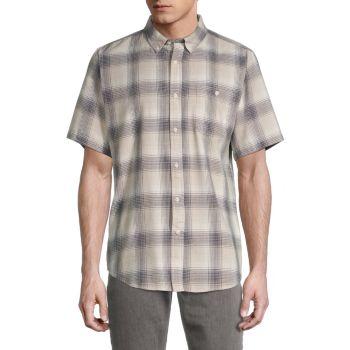 Рубашка в клетку стандартного кроя Ezekiel