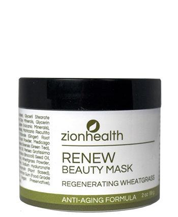 Adama Renew Beauty Mask с экстрактом пшеничной травы, 2 унции Zion Health