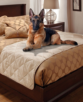 Стеганый протектор для двух кроватей из искусственной замши Pet Pals P/Kaufmann Home