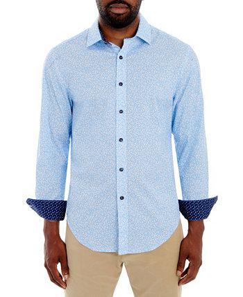 Мужская рубашка Slim Fit Comfort из эластичного материала с длинным рукавом и бесплатной подходящей маской для лица Tallia