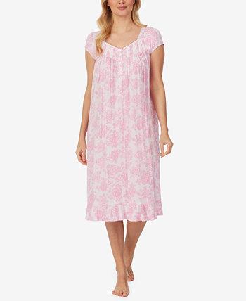 Floral-Print Jersey-Knit Waltz Nightgown Eileen West