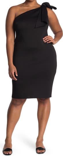 Коктейльное платье на одно плечо Eliza J