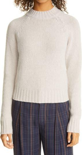 Укороченный кашемировый свитер с воротником-стойкой Vince