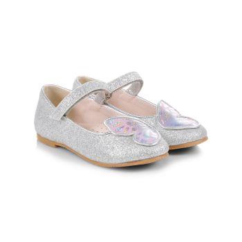 Детские & amp; Металлические балетки Little Girl's Butterfly Sophia Webster