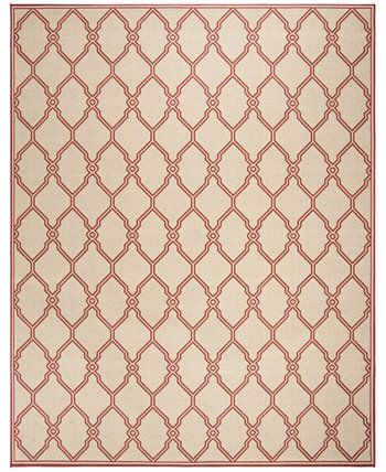 Linden Red and Creme 8' x 10' Area Rug Safavieh