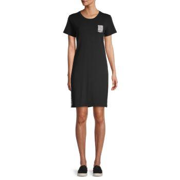 Logo Side-Tape T-Shirt Dress Karl Lagerfeld Paris