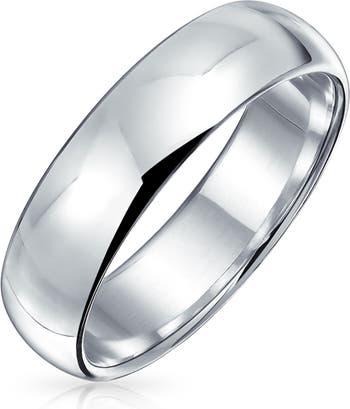 Обручальное кольцо из стерлингового серебра 5 мм Bling Jewelry