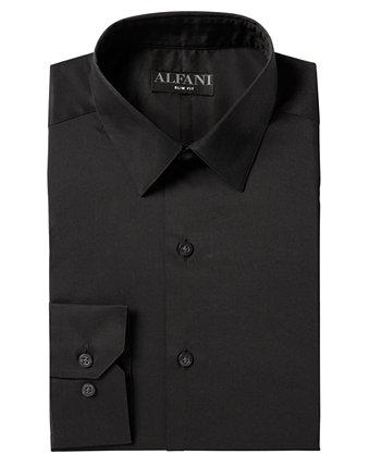 Мужская твердая классическая рубашка AlfaTech, созданная для Macy's Alfani