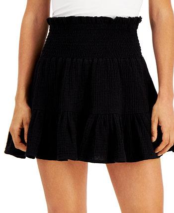 Юниорская мини-юбка из хлопка со сборками Vanilla Star