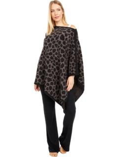 Уютное пончо с леопардовым принтом Barefoot Dreams