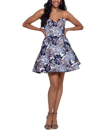 Юниорское платье с пышной юбкой из парчи Blondie Nites