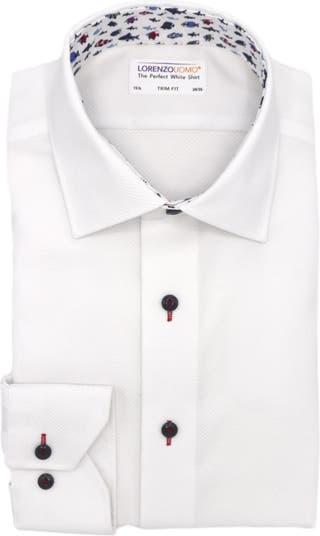 Классическая рубашка с текстурированной отделкой Diamond Lorenzo Uomo