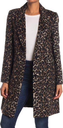 Куртка с леопардовым принтом и зубчатым воротником KENDALL AND KYLIE