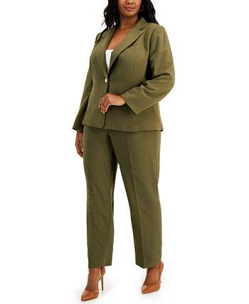 Plus Size One-Button Pant Suit Le Suit