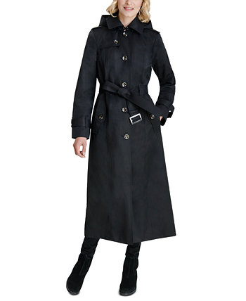 Макси пальто с капюшоном London Fog