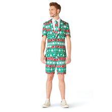 Men's Suitmeister Christmas Green Nordic Summer Suit & Tie Set Suitmeister