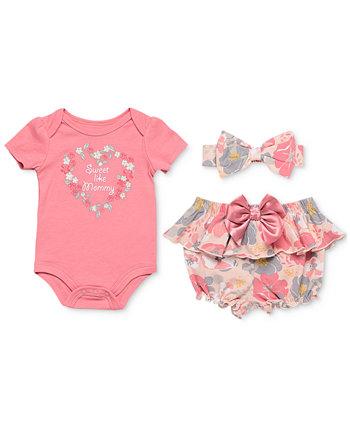 Комплект из 3 предметов боди, шаров-шаров и повязки на голову для маленьких девочек Baby Starters