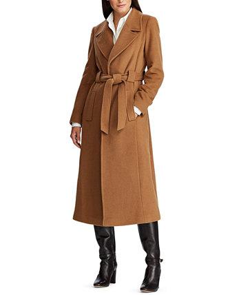 Пальто с запахом и поясом Ralph Lauren