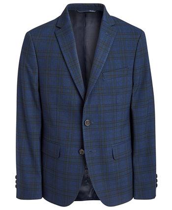 Спортивное пальто классического кроя Big Boys темно-синего / зеленого цвета в клетку Ralph Lauren